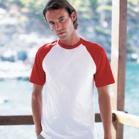 Fruit of the Loom | Short Sleeve Baseball T-Shirt-Fashion Fit